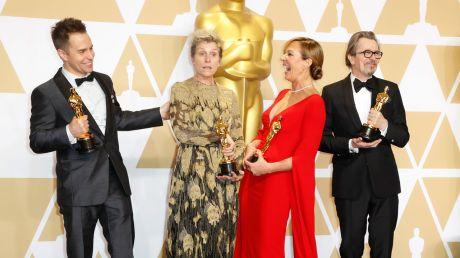 Frances McDormand otrzymała statuetkę za najleprzą rolę żeńską (fot. PAP/EPA/PAUL BUCK)