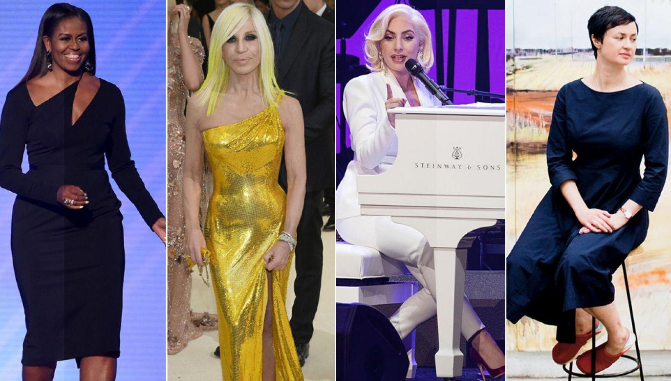 Michelle Obama, Donatella Versace, Lady Gaga i Paulina Ołowska (fot. Kevin Winter/Rick Kern/Dia Dipasupil/Getty Images/TT/NYT)