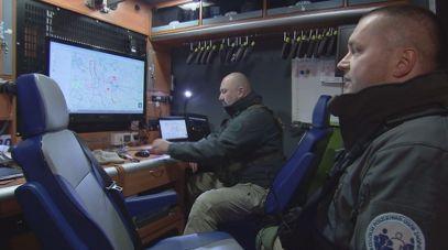 Wóz posiada nowoczesny sprzęt do poszukiwań zaginionych