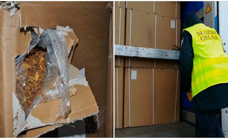 Funkcjonariusze KAS udaremnili próbę przemytu 9 ton tytoniu