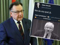 Adam Struzik udostępnił skandaliczną grafikę porównującą prezesa PiS do Hitlera