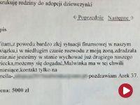 Za 5 tysięcy złotych chciał sprzedać córkę w internecie. Jest już w rękach policji
