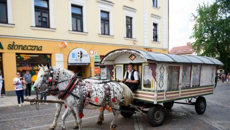 Międzynarodowy Tabor Pamięci Romów wyruszył sprzed Muzeum Etnograficznego w Tarnowie, fot. PAP/Paweł Topolski