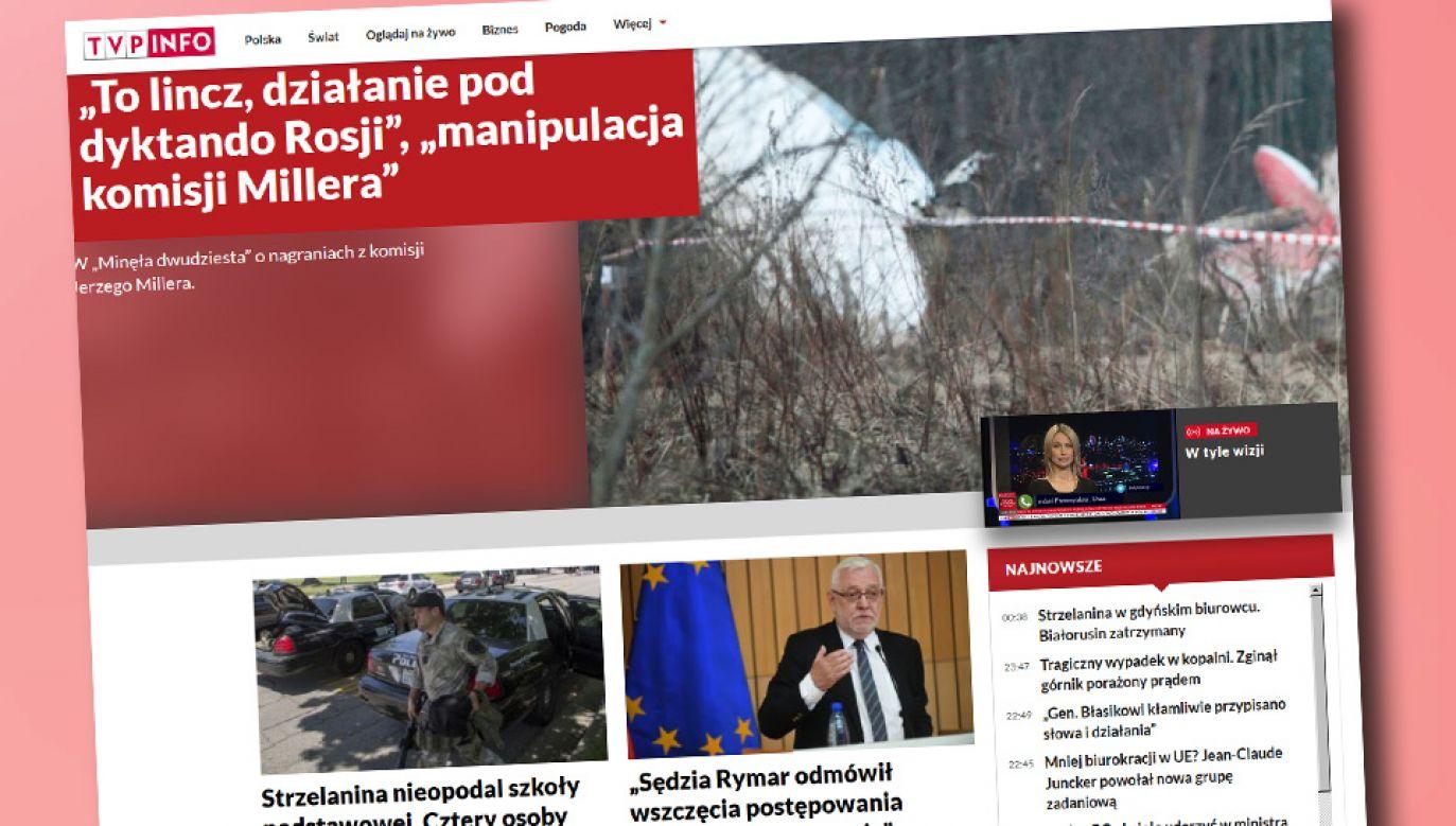 Portal tvp.info ma m.in. nową szatę graficzną (fot. tvp.info)