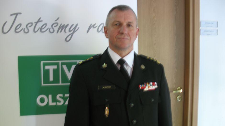 st. bryg. Mirosław Rutecki, komendant wojewódzki PSP w Olsztynie.
