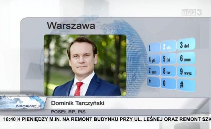 Poseł Tarczyński dla BBC