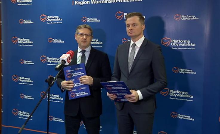 Stanowisko przewodniczącego PO w Olsztynie utrzymał Marcin Kuchciński