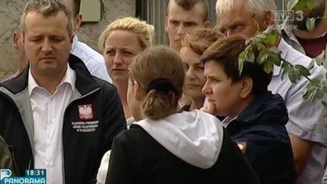 Premier Beata Szydło z wizytą u poszkodowanych