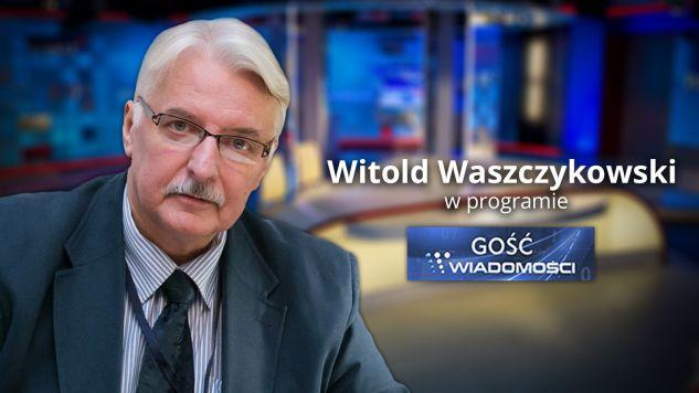 """Witold Waszczykowski w programie """"Gość Wiadomości"""" (fot. graf. tvp.info)"""