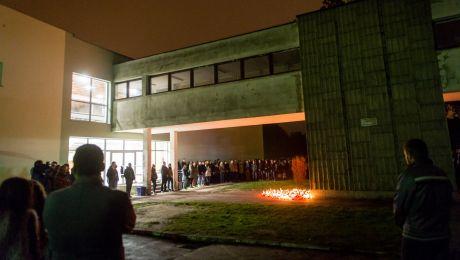 Po wybuchu paniki na otrzęsinach tłum stratował kilka osób (fot. arch.PAP/Tytus Żmijewski)