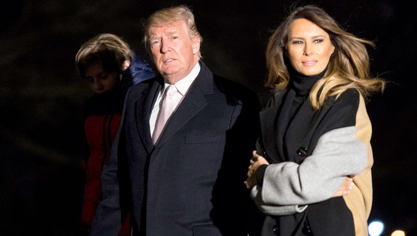 71-letni Donald Trump przy wzroście 190 cm waży 108 kg (fot. PAP/EPA/KEVIN DIETSCH / POOL)