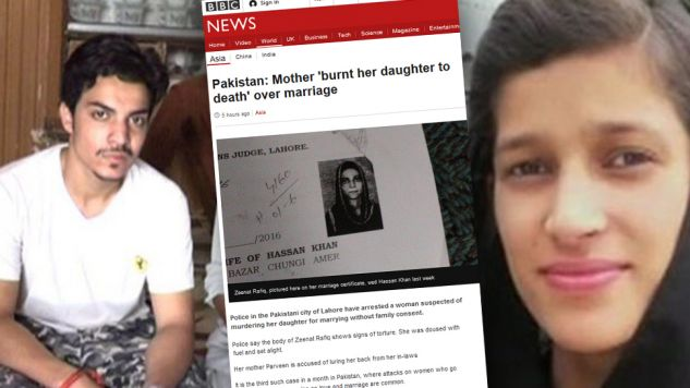 Brat i matka Zeenat Rafique dokonali zabójstwa honorowego (fot. bbc.com)