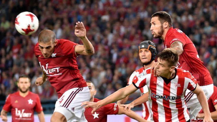 Wisła Kraków - Cracovia Kraków 2:1 (0:1), (fot. PAP/Jacek Bednarczyk)