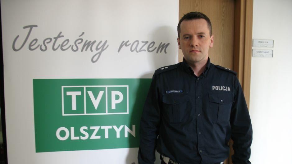 podkom. Artur Kosieradzki, Komenda Powiatowa Policji w Ostródzie.