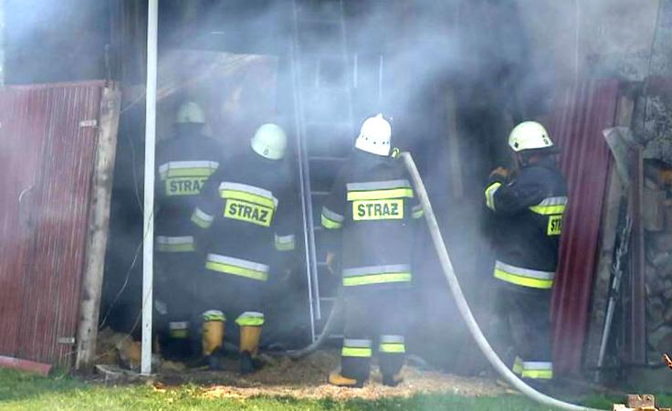 Ponad 30 godzin trwało dogaszanie pożaru w Zakładzie  Zootechniki