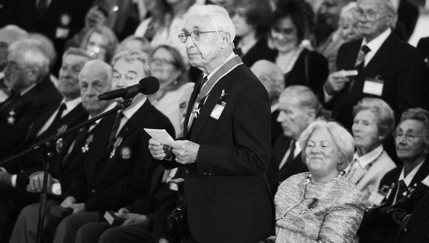 Ppłk Kornicki był ostatnim żyjącym dowódcą polskiego dywizjonu z okresu II wojny światowej (fot. arch.PAP/Radek Pietruszka)