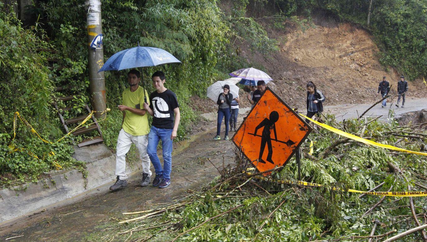 Żywioł przeszedł m.in. nad Kostaryką (fot. PAP/EPA/Jeffrey Arguedas)