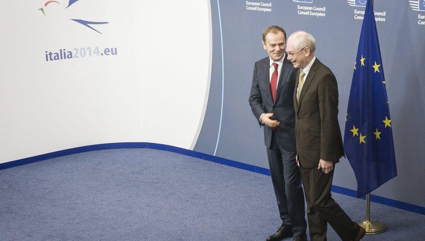 Donald Tusk i Herman Van Rompuy (fot. arch. PAP/Wiktor Dąbkowski)