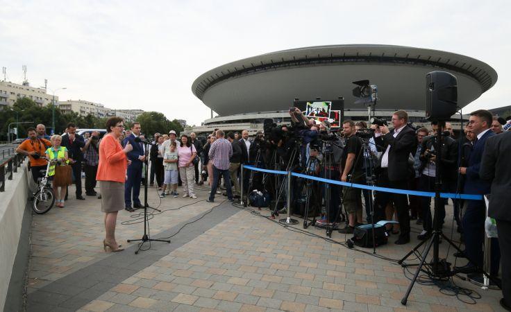 Premier Ewa Kopacz podczas konferencji prasowej. fot. PAP/Paweł Supernak