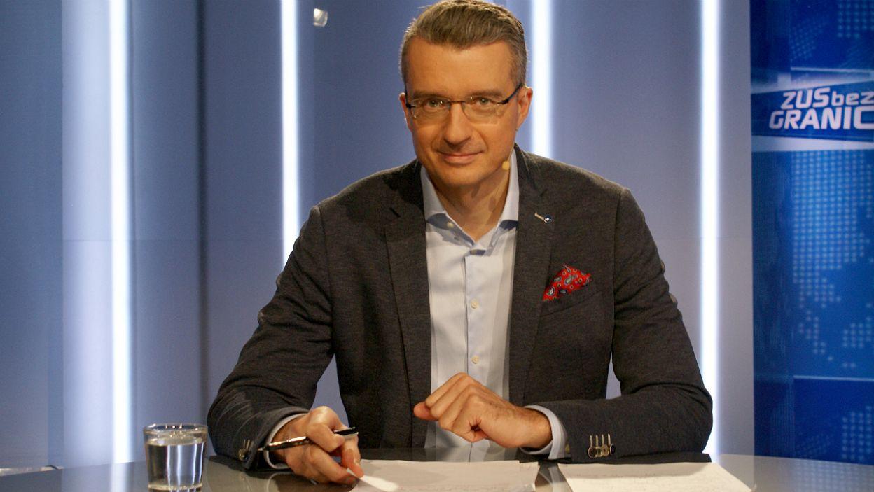 """W """"ZUS bez granic"""" będziemy mówić o ubezpieczeniach społecznych Polaków mieszkających za granicą. Prowadzącym program jest Grzegorz Miśtal (fot.TVP)"""
