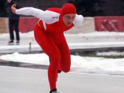 Najlepszy z Polaków w Lillehammer - Jaromir Radke. W rywalizacji panczenistów na 10000 m zajął piąte miejsce (fot. PAP)
