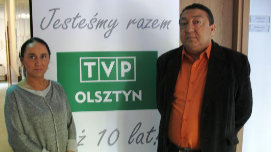 Wioletta Bardzińska (Stowarzyszenie Kultury Romskiej Hitano) oraz Adam Fedorowicz (lider zespołu Hitano).
