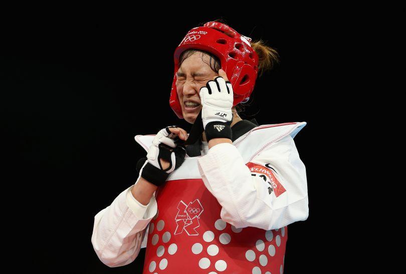 Koreanka Kyung Seon Hwang nie mogła uwierzyć w zwycięstwo w kategorii 67 kg (fot. Getty Images)
