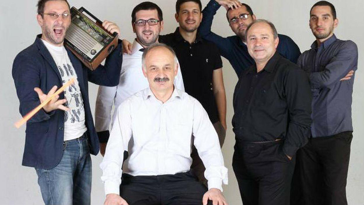 Gruzja: Zespół o oryginalnej nazwie Ethno-Jazz Band Iriao podbije Lizbonę utworem zachowanym w stylistyce gruzińskiej z elementami jazzu i muzyki współczesnej (fot. Eurovision.tv)