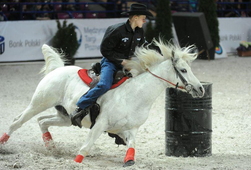 Pokazy jazdy w stylu western (fot. PAP/Bartłomiej Zborowski)