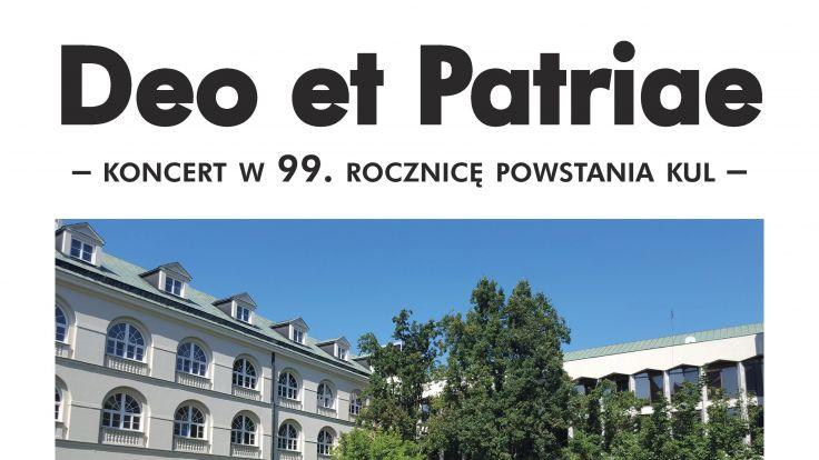 fot. Deo et Patriae – koncert  (plakat organizatora)