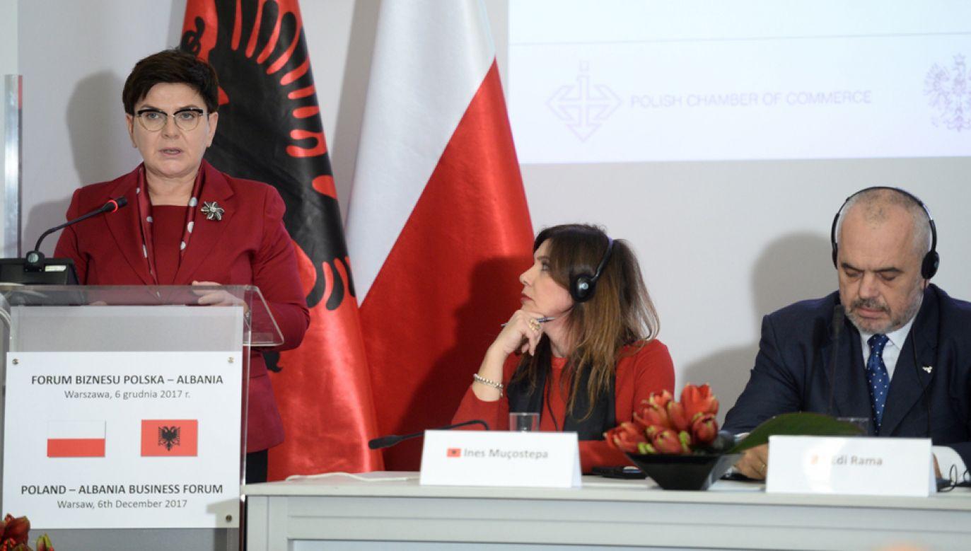 Premier Beata Szydło (L), premier Albanii Edi Rama (P) (fot. PAP/Jacek Turczyk)