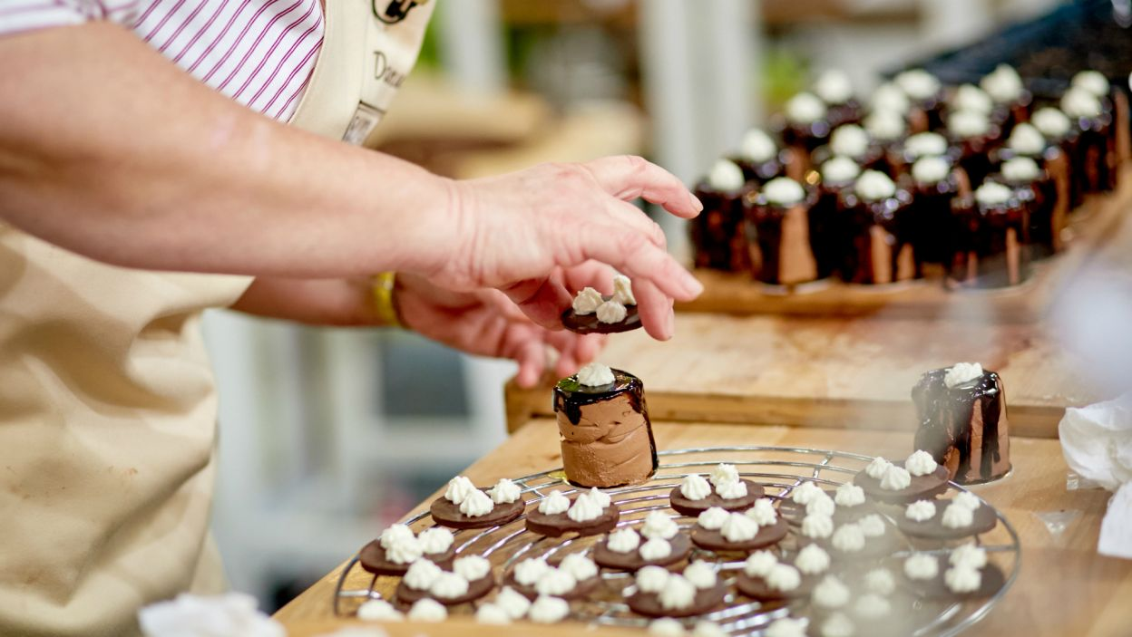 ...a przepis na konkursowe ciastko wcale nie był łatwy (fot. TVP)