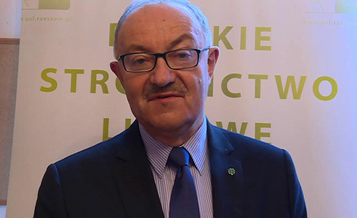 Mieczysław Kasprzak na konferencji w Jarosławiu