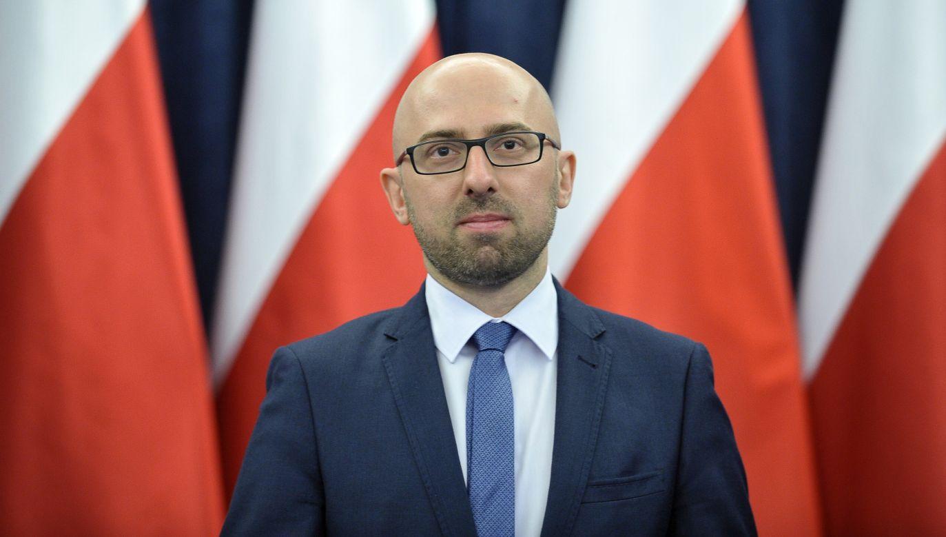Krzysztof Łapiński, rzecznik prasowy prezydenta (fot. PAP/Marcin Obara)