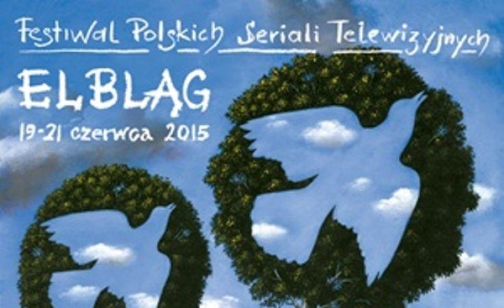 Plakat autorstwa Rafała Olbińskiego promuje Festiwal Polskich Seriali Telewizyjnych.