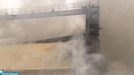 Groźny pożar hali w Stoczni Nauta