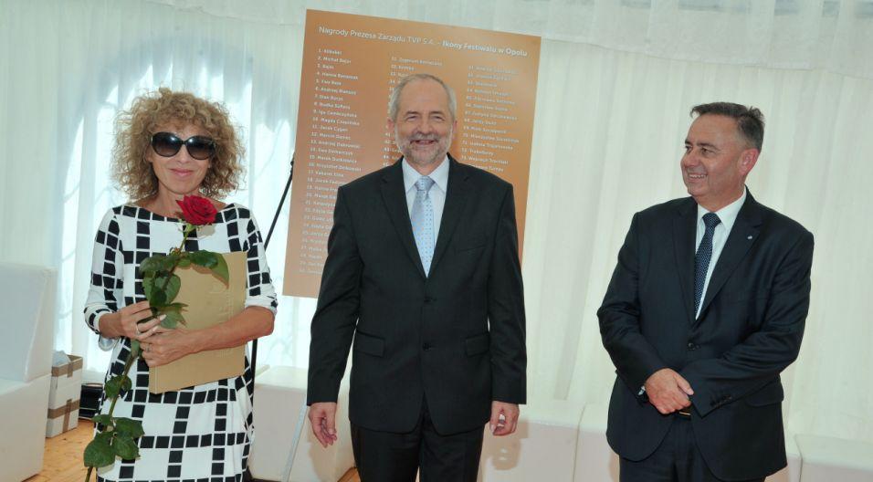 Alicja Majewska – wielokrotnie nagradzana na festiwalu w Opolu (fot. Ireneusz Sobieszczuk/TVP)