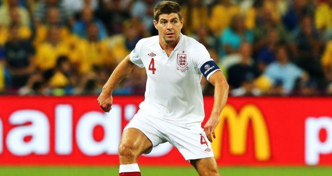Steven Gerrad – jak przystało na kapitana – był prawdziwym liderem Anglików (fot. Getty Images)