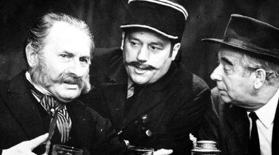 Od lewej: Władysław Hańcza, Jan Matyjaszkiewicz i Józef Pieracki (fot. Zygmunt Januszewski, TVP)