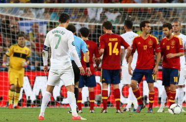 Ronaldo strzelał groźnie, ale niecelnie (fot. PAP/EPA)