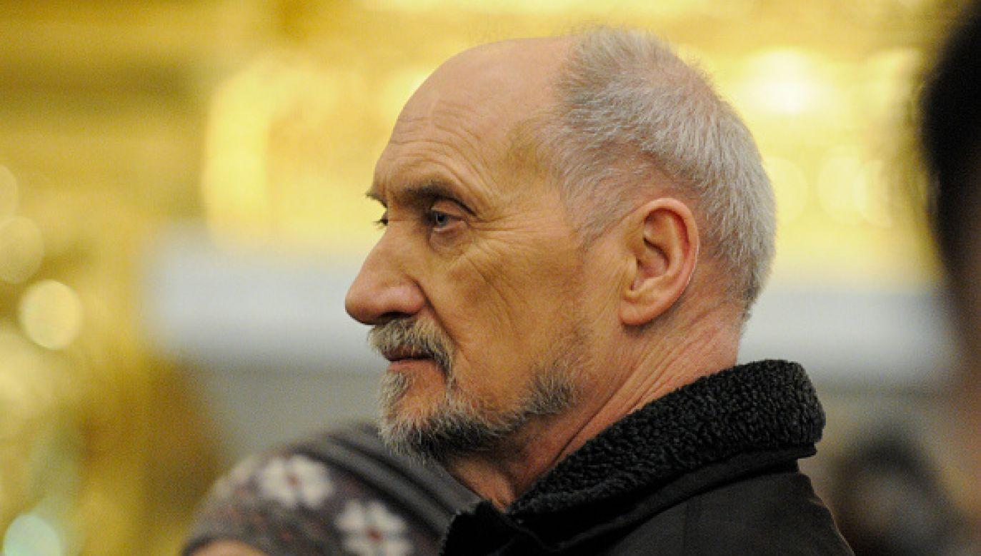 W omówieniu tym zasugerowano, że to sam Antoni Macierewicz był zaangażowany w szantaż (fot. Jaap Arriens/NurPhoto via Getty Images)