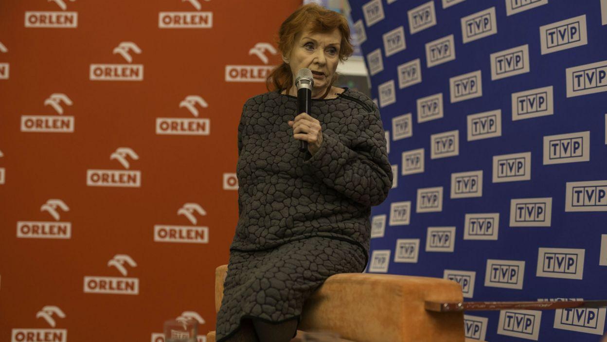 Wielką Nagrodą za wybitne kreacje w spektaklach telewizyjnych i słuchowiskach radiowych uhonorowano także Barbarę Krafftównę (fot. S. Loba)