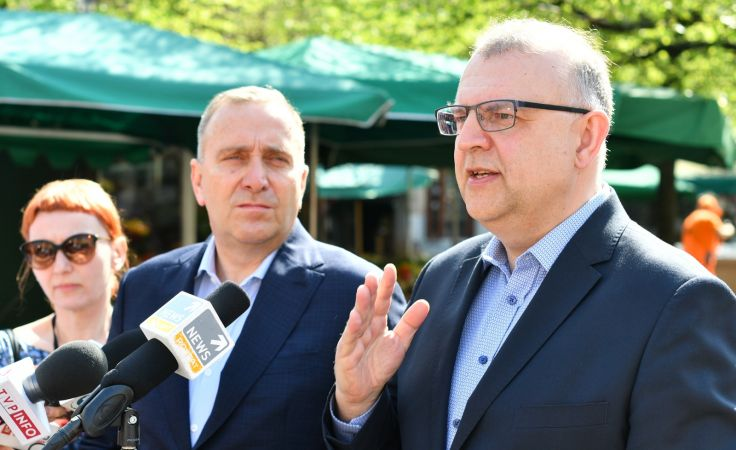 Grzegorz Schetyna i Kazimierz Michał Ujazdowski  (fot. PAP/Maciej Kulczyński)
