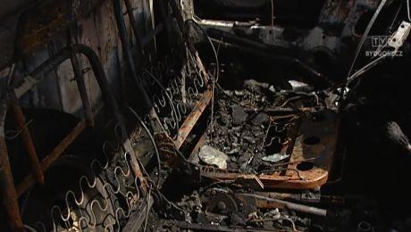 Spalone auto w Chełmnie