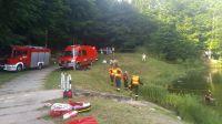 Po około 3 godzinach nurkowie odnaleźli ciało 20-latka (fot. KMP Elbląg)