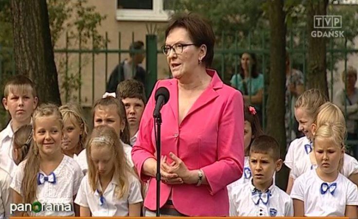Premier Ewa Kopacz na gdańskich Stogach