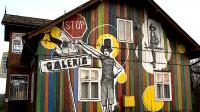 1. Mur wyobraźni akcja  Bieszczadzkiej Grupy Twórców Kultury