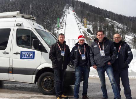 Ekipa TVP3 Rzeszów w Planicy