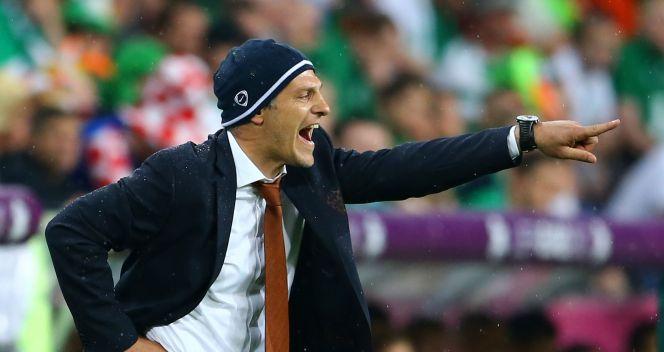 Trener Chorwatów - Slaven Bilić w gustownej czapeczce (fot. Getty)