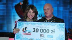 Zwycięzcami Wielkiego Testu o Polskim Filmie zostali  Grażyna Wolszczak i Cezary Harasimowicz (fot. J. Bogacz/ TVP)